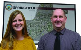 Council members Samantha Hesse and John Mueller.