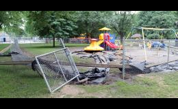 The Kiddy Park in Riverside Park was extensively damaged by flooding.