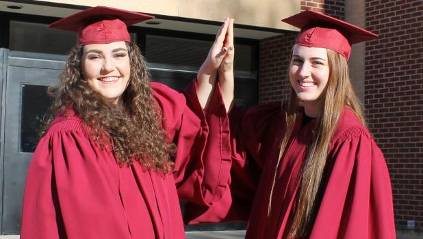 Springfield High School Class of 2017 top scholars — Salutatorian Kate Quesenberry and Valedictorian Callie Wersal — will deliver the commencement address at graduation exercises Friday evening.