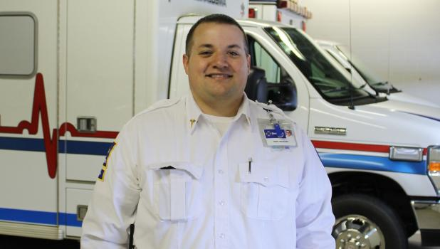 Adam Grant is the new director of Springfield Ambulance Service.