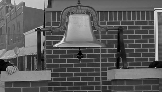 Fire station bell is from the old Dotson District 82 School