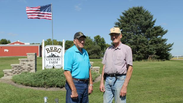 Richard and Fred Berg are partners in farming for seven decades.