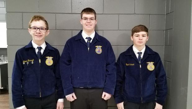 This team consists of (L to R) Isaac Rasset, Connor Scholten, and Wyatt Schmidt.