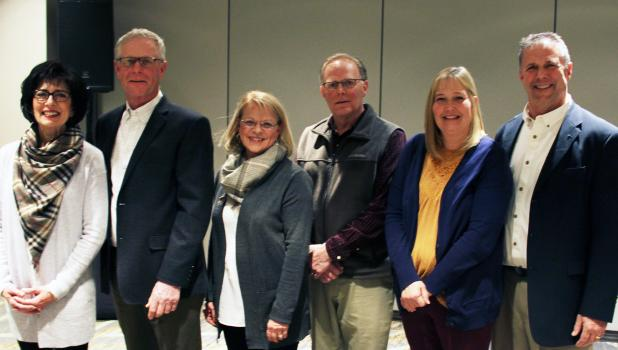 2018 Farm Family of the Year — Judy and Joe Schwartz, Rosie and John Schwartz, and Anita and Mark Schwartz — chosen by the Minnesota Pork Board.