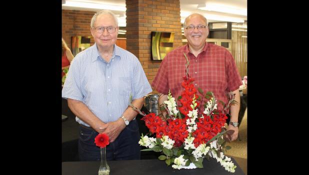 Flower show winners Jake Shiveley and Jeff Krueger.
