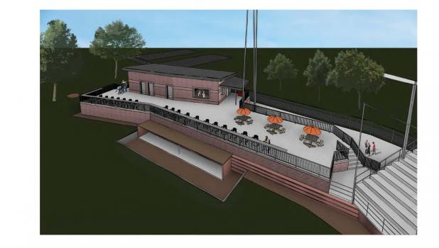 MLA Architects drawing for Concessions and Restrooms project in Riverside Park sports complex