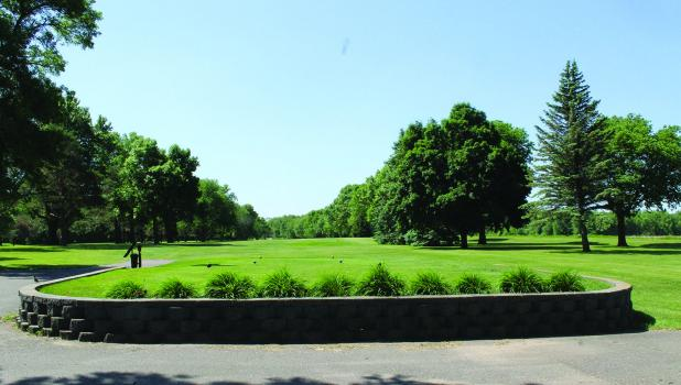 A view from the  teeing grounds looking down the No. 1 fairway at Springfield Golf Course.