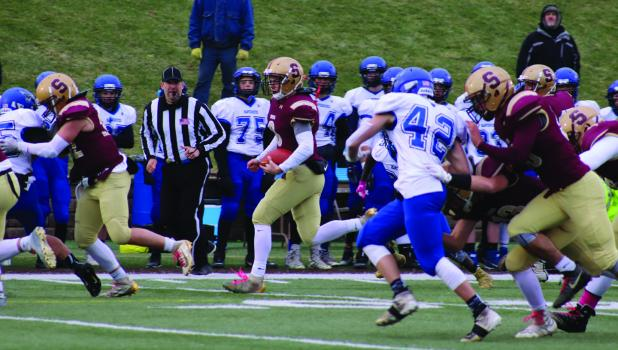 Decker Scheffler rushed 27 yards in the Section 3A Championship game.
