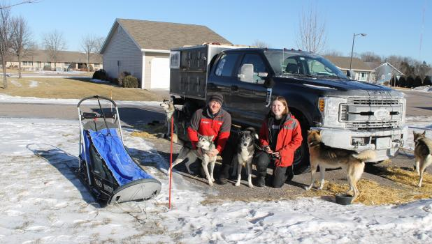 Steve Renner and daughter, Lara, and their Siberian Husky dogs visited their parents and grandparents, Steve and Marie Renner, at Parkview Place in Springfield before heading north to Alaska.