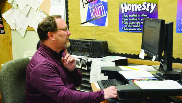 Springfield High School mathematics teacher and coach Jeff Briard, was named Springfield's 2020 Teacher of the Year