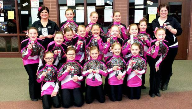 Springfield Mini Kix took second place at the Just For Kix Eastview Competition on March 1.