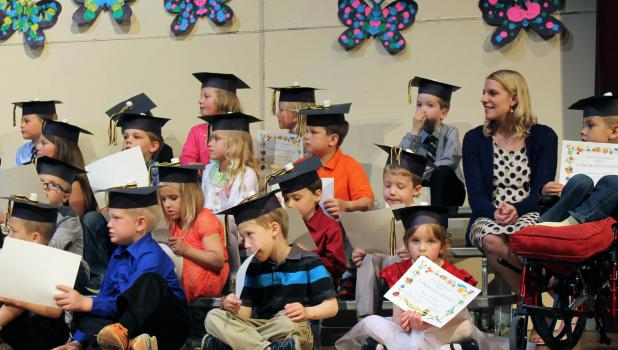 Class of 2027~graduates from kindergarten