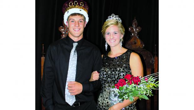 Sam Baier and Micheala Leonard were crowned Springfield High School 2015 Homecoming King and Queen to reign over festivities this week. They were crowned during a program Monday evening. Sam is the son of Randy and Amy Baier.  Michaela is the daughter of John Leonard and Missy Mude.