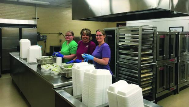 School Lunch Heroes kitchen staff includes the pictured members. Nancy Matter, Sue Rosenstengel and Missy Thorston.