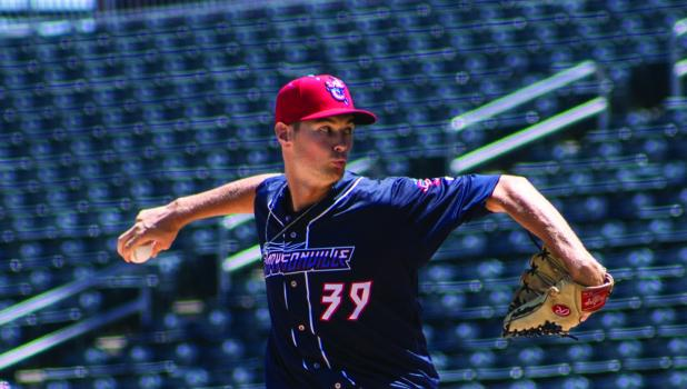 Right-handed pitcher Jordan Milbrath signed with the Arizona Diamondbacks on Jan. 22. He is pictured here pitching last season.