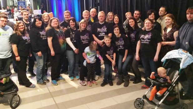 Brianna Portner was joined by nearly 30 close friends and family for the Third Annual National Eating Disorder Association (NEDA) Awareness Walk at the Mall of America.  The event attracted hundreds of participants and raised over $50,000 for the cause. Brianna is pictured at the right of the two children in the center, front row.