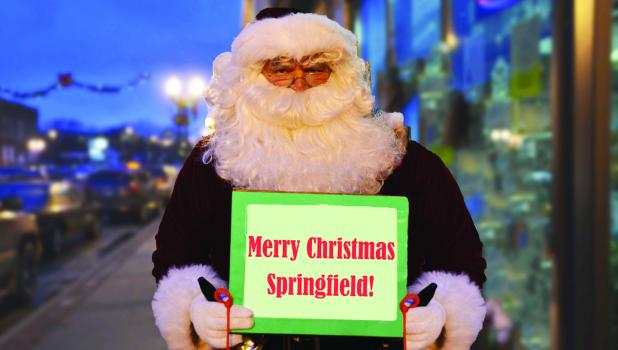 Santa Claus wishes the entire community of Springfield a very Merry Christmas.