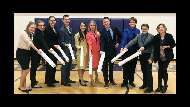 River Valley Speech Team had a commanding presence in the finals portion during the Minnesota State High School League Sub-Section Speech Tournament at Montevideo on Friday, March 29.