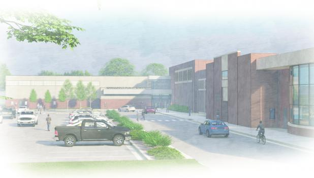 Pictured is a representation of what Springfield Schools new entrance could look like if the February 9, 2021 Bond is approved by voters.