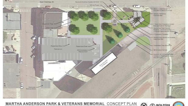 A rendition of what Martha Anderson Veterans Memorial Park could look like in the future.