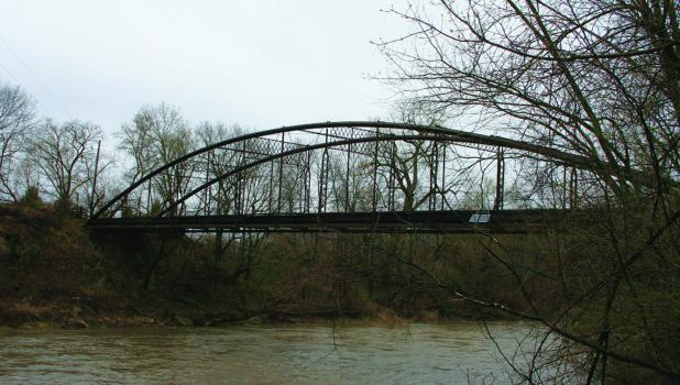 The Kern Bridge is one of the oldest bridges in Minnesota. It is a 189-foot single-span bowstring arch bridge built in 1873.