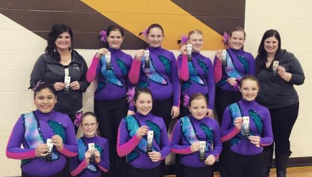 Springfield Middle Kix took third place at the Just For Kix Apple Valley Competition on March 8.