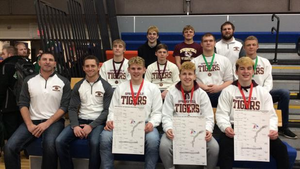 Springfield Tiger wrestlers heading to state.