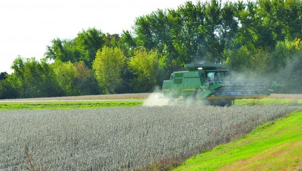 Pictured is Mike Vanderwerf working the fields just west of Springfield.