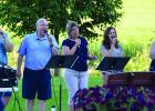 Gospel Express entertained residents at The Mapels last Tuesday evening. Pictured L- Bruce Beussman, Jeff Krueger, Jo Schwartz, Susie Winkelmann and Megan Quesenberry.