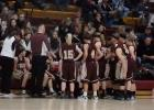 Time-out for the Tiger Girls Basketball team during their season opener