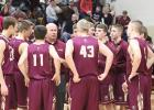 Springfield Tiger Boys Basketball team huddle