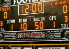 The new football scoreboard at Riverside Park was dedicated last Friday before the Tigers homecoming game. Funding for the scoreboard was by community support and in memory of Kevin DeBerg, Jeff Menage, and Nate Potter.  - Neil Neidt