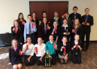 Trophy and ribbon winners at Marshall Tournament —