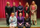 River Valley Speech team State Participants: Back (l to r): Coach Darcy Hoyt, Russell Beers, Sarah Kottke, KayLynn Sanderville, Coach Brianna Jensen Front (l to r): Libby Tonn, Kendall Kelly, Kiera Lafferty.