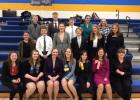 Speech Team members participating in the Viking Tournament. Back (left to right): Lucas Milbrath, Joseph Jensen, Brady Anderson, Piper Wigton, Skyla Dauer. Middle (left to right): Cosette Klotz, Russell Beers, Bryn Gordon, Kade Nachreiner, Brenna Pabst, Layla Schwarzrock. Front (left to right): Kiera Lafferty, Alexis Clemon, Kendall Kelly, Meriah Kirschstein, KayLynn Sanderville, Sarah Kottke, Sydne Wahl.