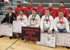 Front row: Kaleb Haase, Omar Arredondo, Chad Maddock, Tayte Harazin, James Ploeger and their coaches.